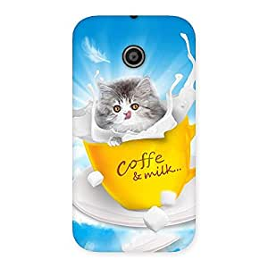 Kitty Coffee Back Case Cover for Moto E