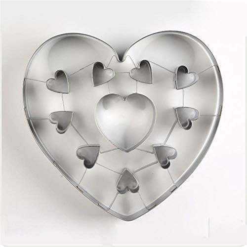 SULUO Big Small Love Heart Cookie Cutter Stamp Mold Cake Decorating Tools Biscuit Fondant Sugarcraft Mould Christmas Cutter-in Baking & Pastry Tools,1 (Big-muffin-tin)