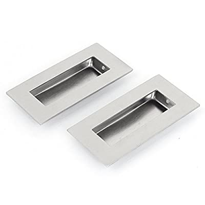 sourcingmap® 52mmx102mm Recessed Flush Pull Finger Insert Door Handle 2PCS - cheap UK light shop.
