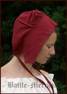 Mittelalterliche Bundhaube für Damen, div. Farben - Mittelalter Haube Kopfbedeckung LARP Wikinger von Battle Merchant auf Outdoor Shop
