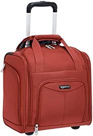 AmazonBasics Underseat Carry On Rolling Travel Luggage Bag - Red