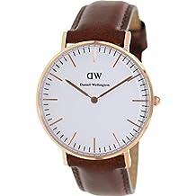 Daniel Wellington Damen-Armbanduhr Classic St.Mawes Lady Analog Quarz Leder DW00100035