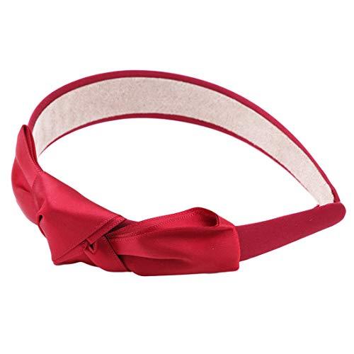 VWH Haarbänder für Frauen Big Bows Ribbon Stirnbänder Kopfschmuck Lady Hair Ornament Zubehör(rot) Ribbon Bow Stirnband