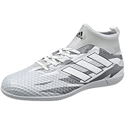 Botas Adidas Ace 17.3 Blanca Suela Lisa Con Calcetín