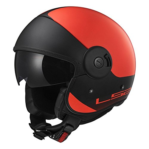 Preisvergleich Produktbild LS2 Cabrio Via OF597 Helm XXL Matt Fluo Orange Black
