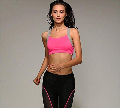 BH Rosa Niedlich Sexy Stützleiste Joggen Laufen Yoga-Outfits Übungen Sportbekleidung , double , L (Niedliche Damen-outfits)