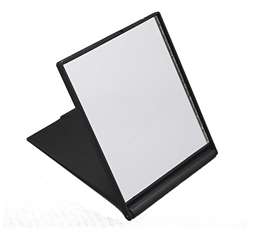 Small Folding Compact Travel Make Up Shaving Mirror - Black