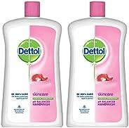 Dettol Skincare Liquid Soap Jar - 900 ml (Pack of 2)