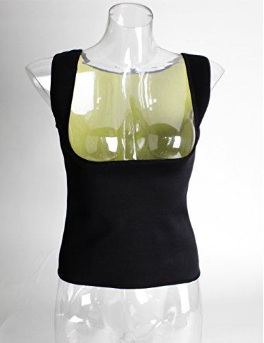 Kiwi-rata Damen Neopren Reißverschluss vorne Sport Taille Cincher Ausbildung Korsage Korsett Corsage Sweat Vest Schwarz #