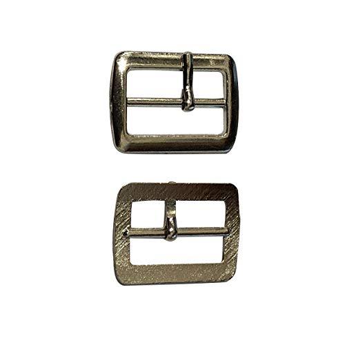Trimming Shop 20mm Silber Unisex Schuhschnalle, langlebig, leicht für Schuhe, Sandalen, Gürtel, Modeaccessoires, 50 Stück -