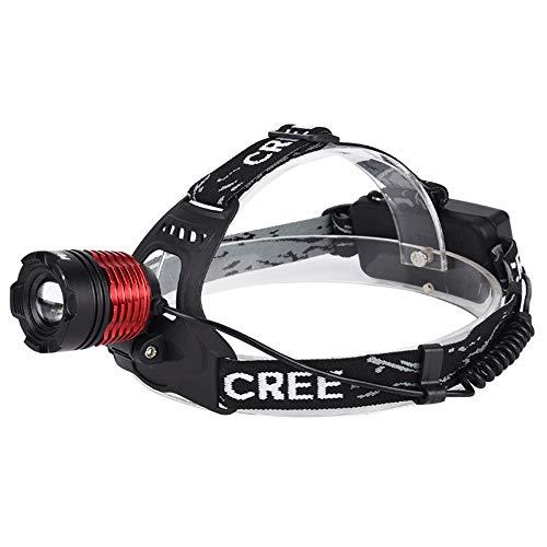 0 ℃ Outdoor LED-Kopf-Taschenlampe mit 3 Moden, T6 LED-Scheinwerfer, wiederaufladbare Scheinwerfer Ultra Bright Taschenlampe für Klettern Radfahren Fischen Camping Camping im Freien Light, 2 Personen