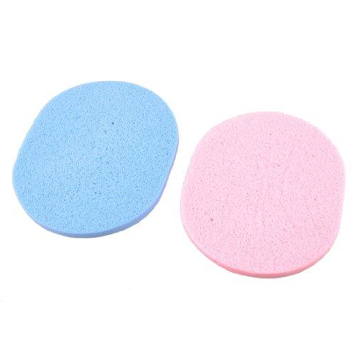 sourcingmap® Rose Bleu Clair Ovale Éponge Visage Coussin Visage Nettoyage Coussin De Poudrage 10.7cmx3.12.7cm 2 Pcs