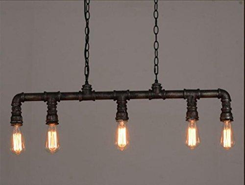 Sai Tai@LED Pendelleuchte Höhenverstellbar Küchen Deckenleuchte Wohnzimmer Designleuchte Deckenlampe Schlafzimmer Modern ,schwarz,Eisen,90cm*120cm -