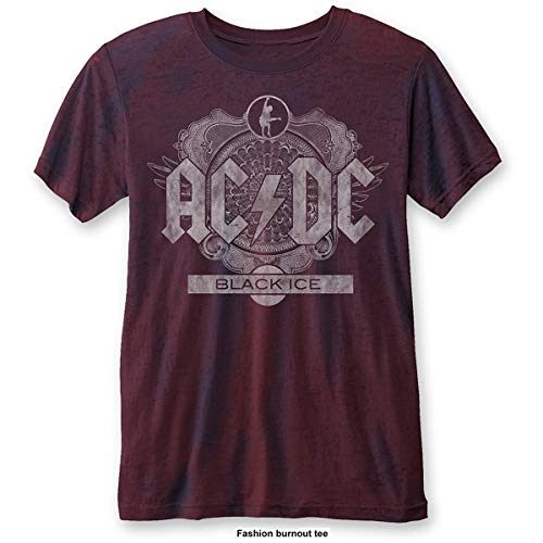 AC/DC Black Ice (Burn out) Camiseta, Blue (Blue, Red Blue, Red),...