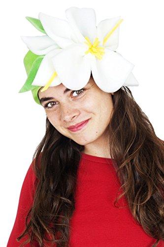 Sombrero de gomaespuma flores blancas