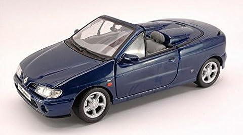 Renault 1 18 - ANSON AS0342BL RENAULT MEGANE CONVERTIBLE 1996 BLUE