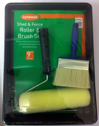 shed-fence-roller-brush-wood-treatment-stain-preservative-creosote-paint-kit