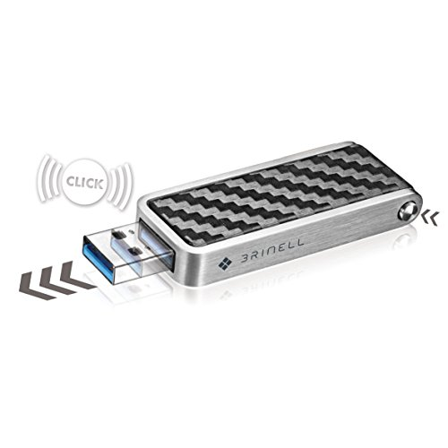 Brinell-Penna-Action chiavetta USB 3.0-Red dot Award 2013 nero carbone 64 GB