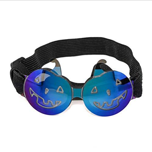 CJN Haustier-Sonnenbrille-Halloween-Lustige Bunte Kürbis-Gläser Für Kleine Hunde und Katzen,Blue