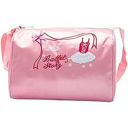 DoGeek Bolsa de ballet niña bolsa de danza con diseño de zapatos de Ballet los niños pequeños mochila