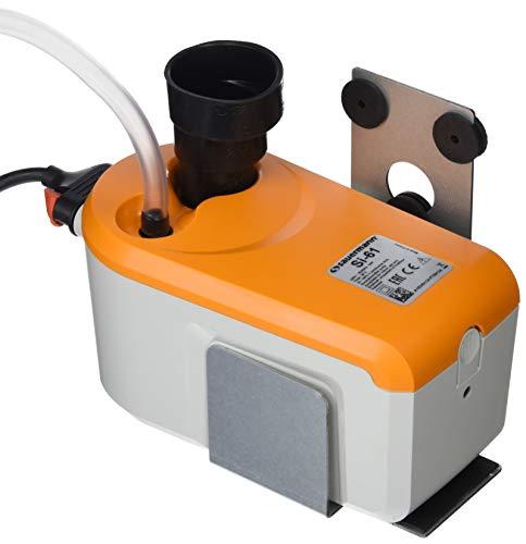 Sauermann Pompe évacuation condensat à Piston avec réservoir intégré, ABS, Blanc/Orange,...