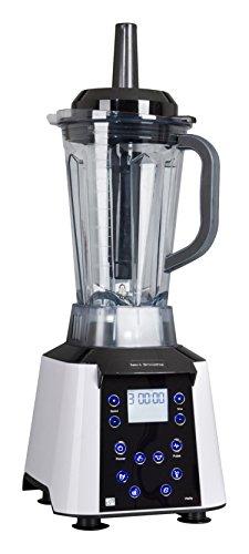 G21 SM1680NGW Batidora de vaso 2.5L 1680W Negro, Color blanco - Licuadora (2,5 L, 32000 RPM, LCD, Batidora de vaso, Negro, Blanco, Poder)