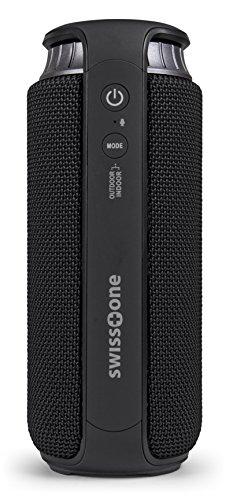 swisstone BX 500 Bluetooth Lautsprecher (Spritzwassergeschützt nach IPX4, Freisprechfunktion, X-Bass für satten Sound) schwarz -