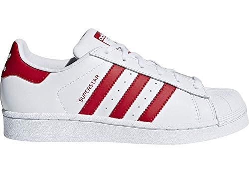 adidas Unisex-Kinder Superstar J Fitnessschuhe Weiß (Blanco 000) 38 EU