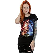 Star Wars mujer The Force Awakens Poster Camiseta