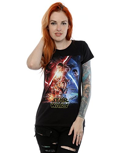 Star Wars Donna The Force Awakens Poster Maglietta Small Nero