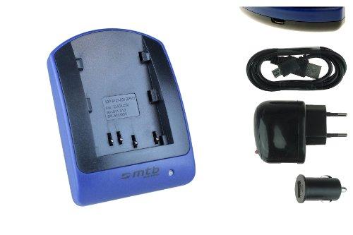 Caricabatteria (USB/Auto/Corrente) per Canon BP-511 / EOS 5D 10D 20D IXY Powershot Optura. -v. lista
