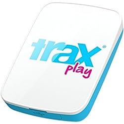 Trax Play T140007 - Dispositivo de localización GPS (batería 510 mAh, USB, 72 h, Resistente al Agua) Blanco/roso
