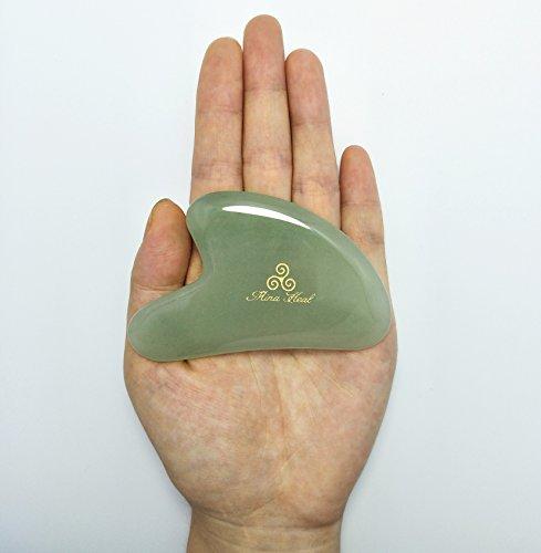 Outil Jade Gua Sha pour massage du visage, massage lymphatique, rajeunissement de la peau, détox et renouvellement de la peau, cosmétique anti-âge, anti rides, beauté Img 4 Zoom