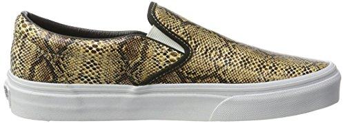Vans U Classic, Unisex - Erwachsene Sneaker (Leather / Snake) Gold
