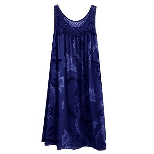 BOLANQ Damen Plus Size Kleid 1950er Cocktailkleid Jahrgang Kleider Spitzenkleid Langarm Knielang Rockabilly Kleid S-7XL - Plus-size-barbie-puppe Shirt
