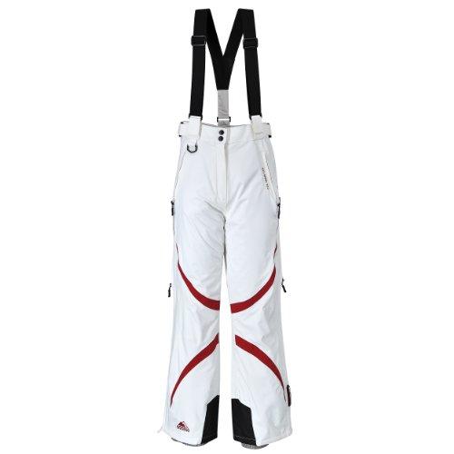 COX SWAIN Damen 2-Lagen Snowboard-/ Skihose JACY mit RECCO Lawinenreflektor 15.000mm Wassersäule!, Colour: White/Red, Size: M