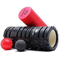 Fitness Foam Rollers For Deep Tissue Massage, Trigger Point Foam Roller For Muscle Massage And Deep Relaxation Therapy,2-in-1 Muscle Foam Roller Rumble Set For Exercise in Your Aching Legs and Body