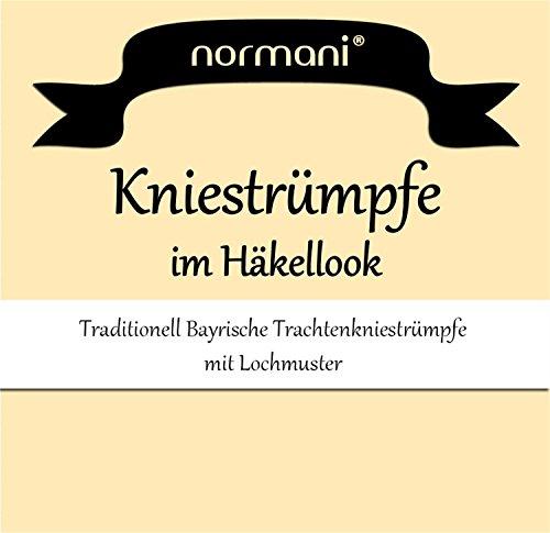 1, 2 oder 4 Paar Damen Dirndl Trachtensocken Häkellook Kniestrümpfe für Teenager und Damen Farbe 1 Paar Größe 35/38 - 2