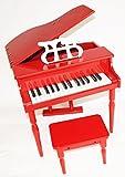 Kinder Klavier Piano Flügel Kinderklavier + Hocker Rot