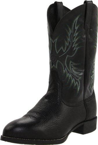Ariat Men's Heritage Stockman Western Cowboy Boot, Black Deertan/Shiny Black, 13 M US (Western-cowboy-stiefel West Old)