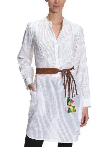 Antik Batik Camicetta da donna, a righe GINY1DJE Bianco (bianco) 44