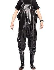 Doooxi Homme Imperméable Waders Vêtements de Pêcheur Durable Fermier Salopette