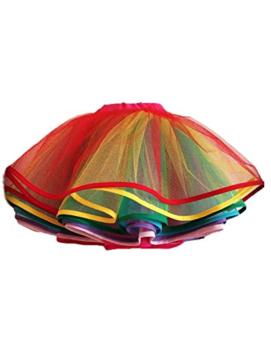 BridalMall-Girls-Rainbow-Edged-Tutu-Dance-Skirt