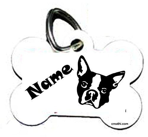 Anhänger fürs Halsband Knochen: mit Motiv Hunde (48 versch. Rassebilder) + Wunschtext wählbar! zweiseitig personalisierbar - 2