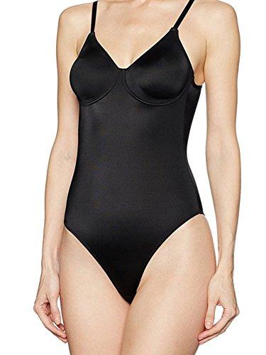 Lady bella p6922 body intimo donna coppa c con ferretto e coppe preformate non imbottite e senza cuciture in microfibra elestica comodo e leggero - (bianco - 3c)