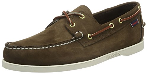 Sebago Docksides, Nauticos Hombre, Marrón Dark Brown