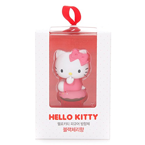 [Carex]] Hello Kitty figure cruscotto deodorante nero ciliegia degli odo