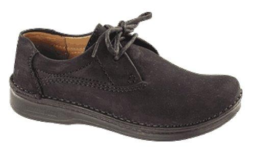 FOOTPRINTS Memphis Klassische Halbschuhe Nubuk / Naturleder mit schmalem Fußbett Schwarz