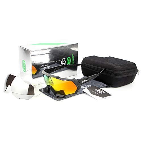 ANSKT Fahrradbrille mit 3 Wechselgläsern, Herren- und Damenfahrradbrille UV400 @ 1