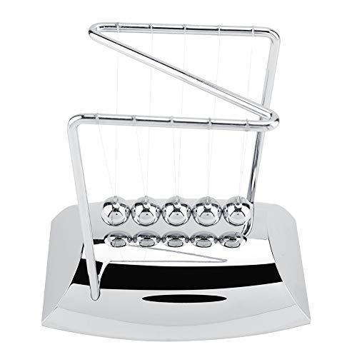 Zerodis Newtons Wiege Balance Bälle Kunststoff Basis Kunst in Bewegung Spielzeug für Kinder Erwachsene Physik Wissenschaft Pendel Ornamente Pädagogisches Spielzeug Geschenk